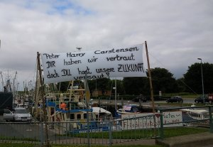 Friedrichskoog protestiert